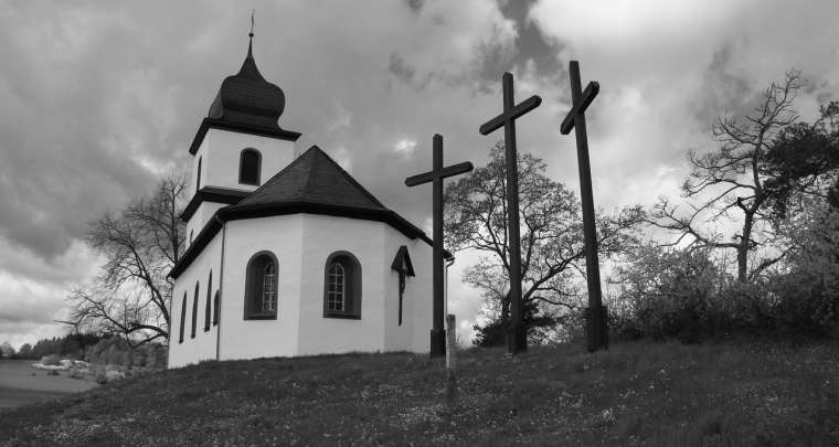 Ruhe in Frieden, Kreuz, Kirche,