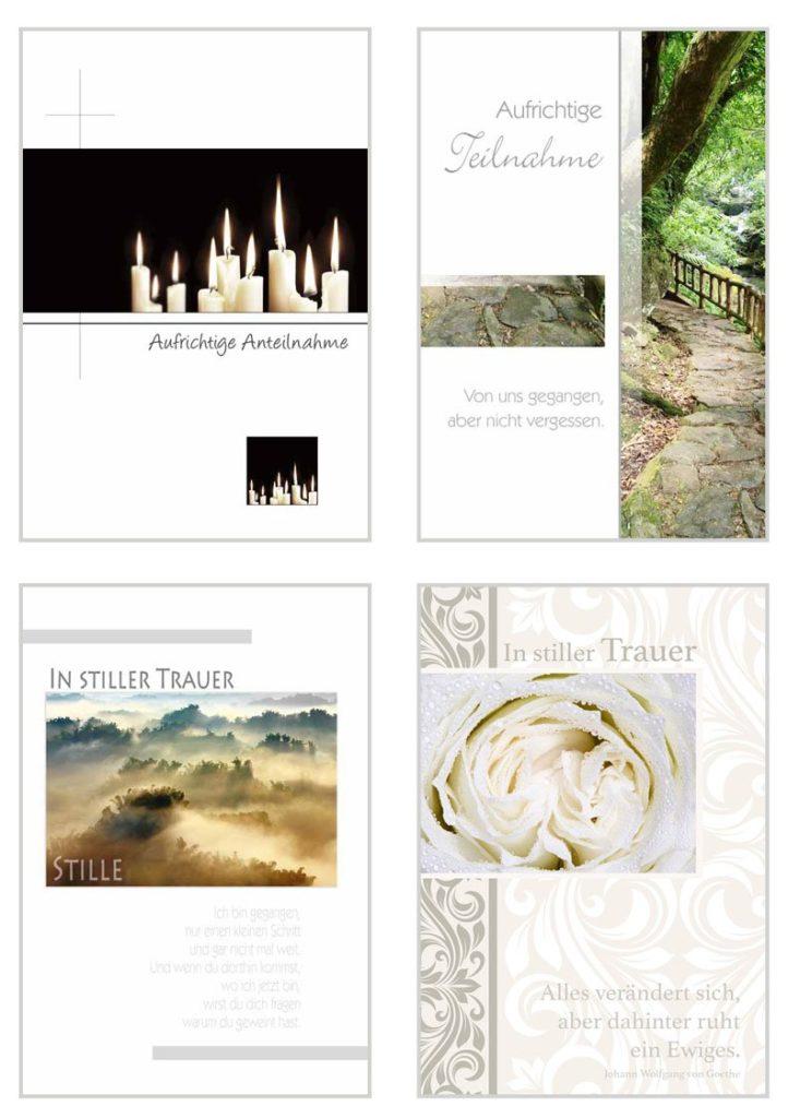 Trauerkarten zum kaufen