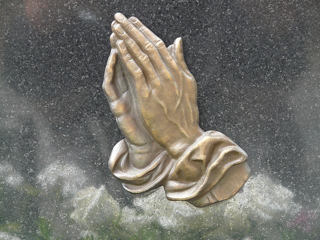 Trauermotive Whatsapp - betende Hände